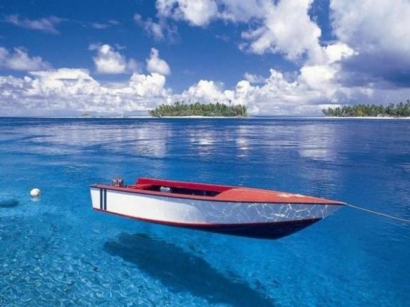 Boat in Clear Water