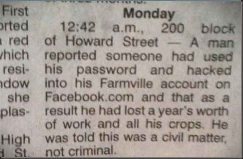 Farmville Idiot
